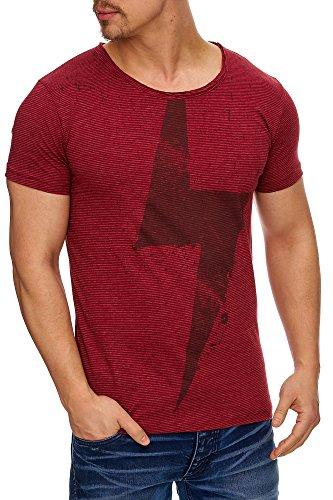 TAZZIO Herren Rundkragen T-Shirt 17109 Bordo