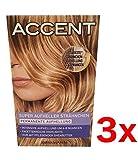 3x Accent Haarfarbe Super Aufheller Strähnchen Permanente Aufhellung - BLOND -