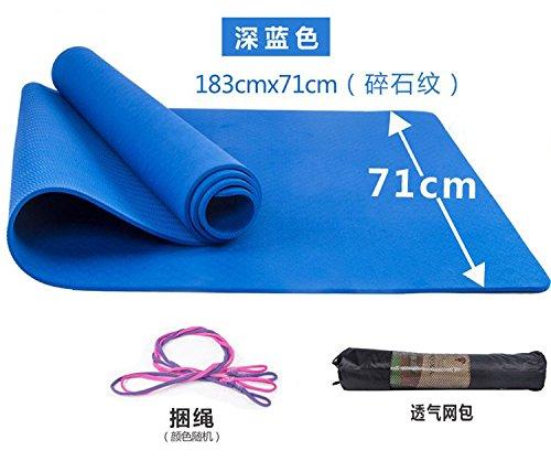 YOOMAT Fuß Anti-Rutsch-Matte reißen Trainingsmatte Yoga Matte billig Spot Double Black, 6 Mm (Starter), [Schwarz] Dunkel Blau 3-Teilig 82570