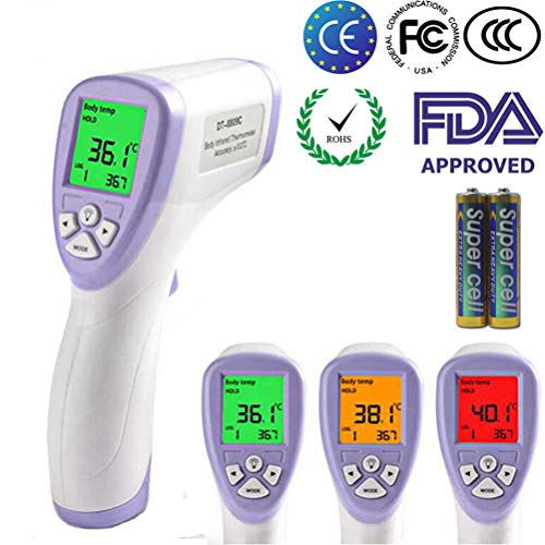 KETOTEK Fieberthermometer Baby Thermometer Stirnthermometer Ohrthermometer Digital Medizinisches Fieberwarnung Kinder Erwachsenen Fieberthermometer (Violett)
