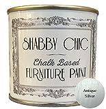 Shabby Chic Furniture Paint - Vernice a gesso per mobili, colore: argento antico, 125 ml