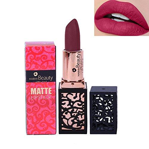 Rouge à lèvres,Lonshell Rouge à lèvres mat durable lèvres cosmétiques lèvre (20#)