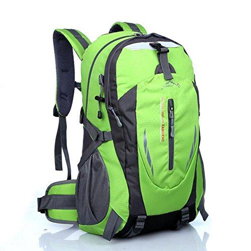Dohot zaino da escursionismo, leggero e impermeabile zaino per trekking, campeggio, corsa, ciclismo trekking sport all' aperto 40l, donna Ragazzi unisex Uomo, Blue Green