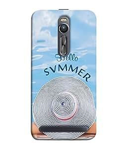 PrintVisa Designer Back Case Cover for Asus Zenfone 2 ZE551ML (Relaxed comfortble summer blue water white)