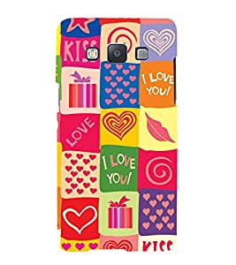 Multicolour Love Hearts Wallpaper 3D Hard Polycarbonate Designer Back Case Cover for Samsung Galaxy A3 (2015 Old Edition) :: Samsung Galaxy A3 Duos :: Samsung Galaxy A3 A300F A300FU A300F/DS A300G/DS A300H/DS A300M/DS