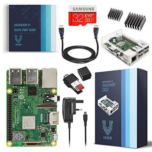 Vilros Raspberry Pi Model B+. RP 3 Model B+ Complete Kit with Clear Case