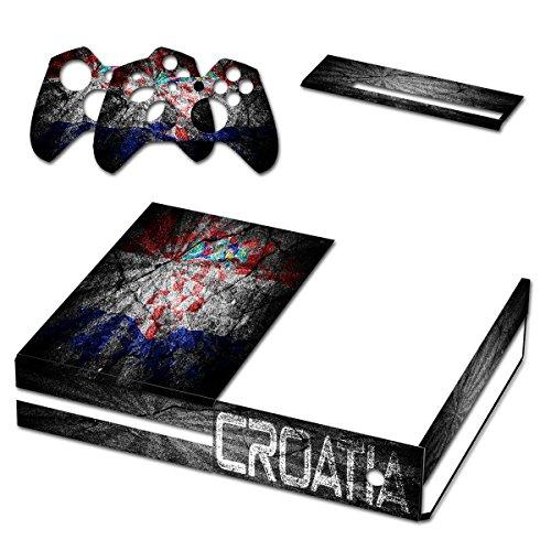 Graffiti Flagge Kroatien, Designfolie Sticker Skin Aufkleber Schutzfolie mit Farbenfrohem Design für Xbox - One Zumba Xbox