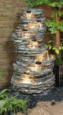 8 Tier Rock Cascade Water Feature with Lights from Primrose