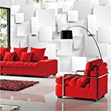 Guyuell Moderne Minimalist 3D Stereo Geometrie Cube Wandbild Tapete Benutzerdefinierte Wohnzimmer Büro Modische Innentapete Für Wände 3D-120Cmx100Cm