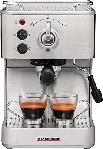 Professionelle Espressomaschine (Gastroback 42606 Espressomaschine, silber)