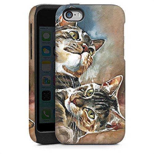 Apple iPhone 5 Housse étui coque protection Chats Chat Jouer Cas Tough brillant