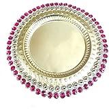 LOF Diwali Decorative, Simple, Attractive Pooja Thali For Every Ocassion For Home Decore Gift Designer Pooja Thali Arti Thali