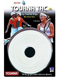 TOURNA Tac Overgrip XL Grip de Tenis (Pack de 10 Grips), Blanco