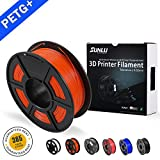 SUNLU PETG 3D filament 1.75mm 1KG(2.2lb), PETG 3D Printer Filament, Dimensional Accuracy +/- 0.02 mm, 1 kg Spool, 1.75 mm, Orange PETG