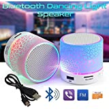 Rechargeable Bluetooth Speaker WITH LED Wireless Audio Receiver Outdoor, Home Theatre Portable USB MP3 Player Stereo Surround Loud Mini Radio Bluetooth Speaker Speakers With Light Support TF Card And Aux With MIC And Phone Call Receiving Feature Support +
