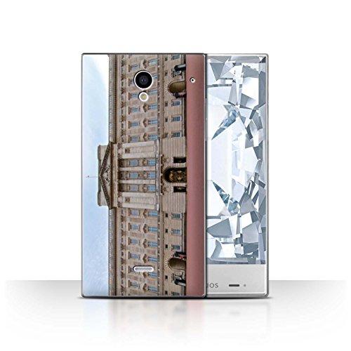 Stuff4® Hülle/Case für Sharp Aquos Crystal/306SH / Buckingham Palace Muster/Seiten London Kollektion -