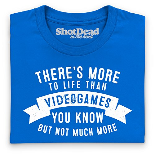 More To Life - Videogames T-Shirt, Damen Royalblau