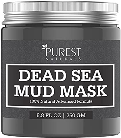 Purest Naturals Dead Sea Mud Mask for Face, Acne, Oily Skin & Blackheads - 100% Natural & Organic Deep Skin Cleanser - Reduces Signs Of Aging, Pores & Wrinkles - Ultimate Spa Quality …