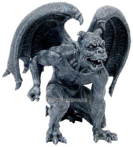 Gargoyle mit Hörnern - Figur Fantasy Deko Gargoyle Figur