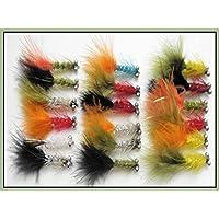 18humongous Pesca de la trucha vuela tamaño 10),, Para Pesca con Mosca–Colores Variados