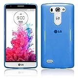 TBOC® Blau Gel TPU Hülle für LG G3 S D722 Ultradünn Flexibel Silikonhülle