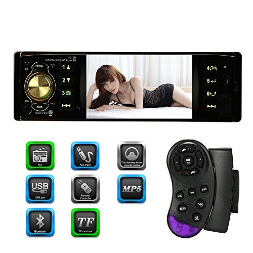 "KKmoon 4.1"" TFT Reproductor Multimedia MP5 HD 1080P Pantalla Digital Bluetooth Radio FM USB/TF Aux Entrada Control Remoto Volante"