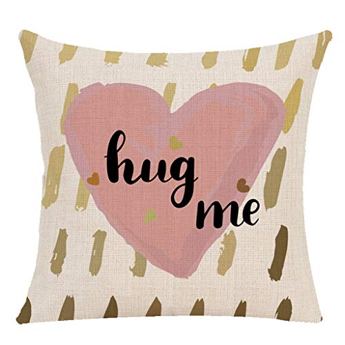 (Littay Überwurfkissenbezüge, Happy Valentine's Day Throw Kissenbezug Sweet Love quadratisch 18x18inch Multicolor7)