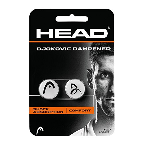 HEAD Djokovic Vibrationsdämpfer, Orange/Schwarz, 2 - Vibrationsdämpfer Head