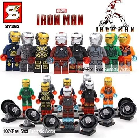 mini figures star wars marvel avengers toy man keyrings dc super fits with lego Iron man special - 8 mini