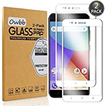 [2 Pack] Owbb Tempered Glass Screen Protector For Xiaomi Mi 5X / Xiaomi Mi A1 White Full Coverage Film 99% Hardness High Transparent Explosion-proof