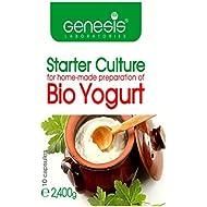 """Levadura """"Genesis"""" (Starter culture) para la preparación casera del Bio probiótico yogur - 10 cápsulas - hasta 20 litros."""