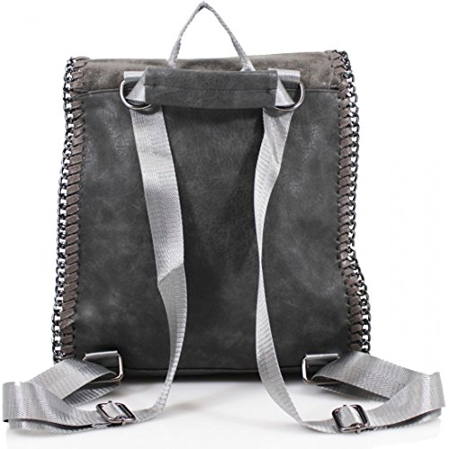 Craze London, Borsa a zainetto donna Light Grey