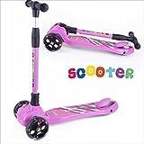 BAYTTER Kinderscooter Dreirad mit verstellbarem Lenker Kinderroller Roller Scooter LED Blinken für Kinder ab 3 4 5 Jahren