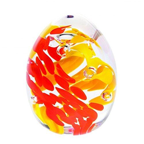 """Caithness-Fermacarte in vetro, motivo: """"Gala-fiamma"""", colore: multicolore"""