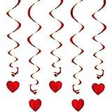 Oblique-Unique® Deckenhänger Spiral Girlanden mit Herzen
