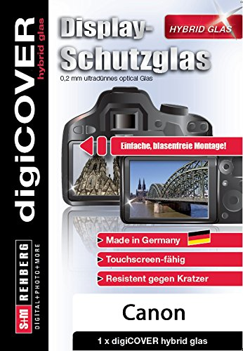 digiCOVER Hybrid Glas Displayschutz Canon EOS 6D Mark II Klar