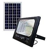 Bed Store® Faro faretto a led con pannello solare da esterno IP67 con telecomando con timer 10w 25w...