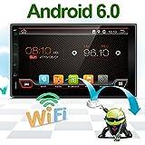 """Última pantalla táctil HD Radio de coche 7""""Android 6.0coche navegación estéreo–2DIN Quad Core coche entretenimiento multimedia/FM/AM/RDS Radio, GPS, WIFI, BT, espejo link (no reproductor de DVD.)"""