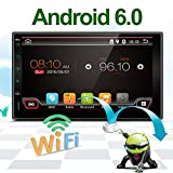 Ultime autoradio 17,8cm HD touchscreen Android 6.0auto navigazione stereo–2DIN Quad Core auto intrattenimento multimediale/FM/AM/RDS radio, GPS, Wifi, BT, specchio Link (no lettore DVD.)