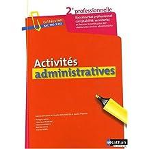 Activités administratives : Seconde baccalauréat professionnel