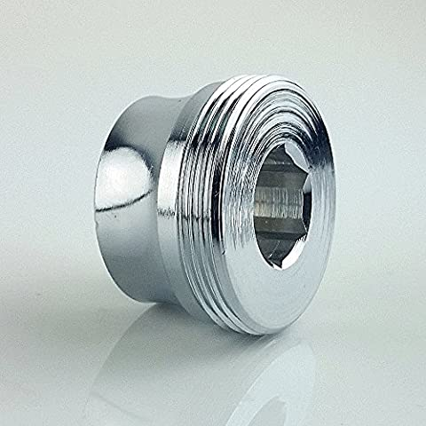 M18x1 female thread Adapter and M22x1 male chrome, often used from Dornbracht, for small aerator threads, metric