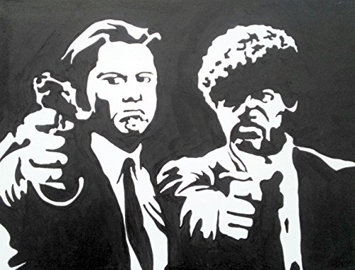 pulp-fiction-vincent-vega-jules-winfield-jhon-travolta-samuel-l-jackson-quadro-cm-50-x-40-pannello-l