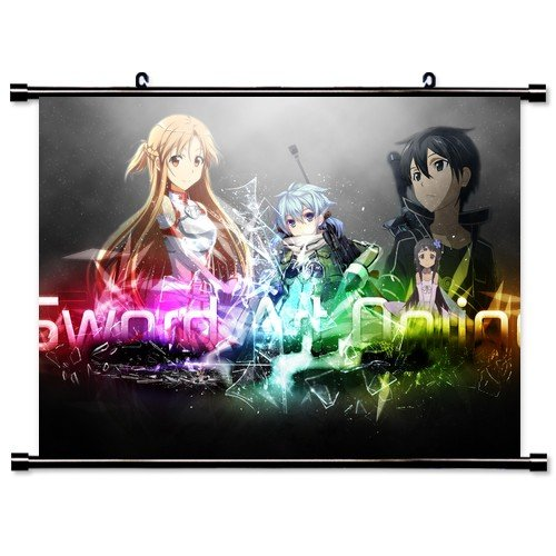 Wallscrolls-Wonderland Anime Sword Art Online Dekoration Wallscroll Stoffposter Tapete Geschenk Home Decoration Wall Design 60x40CM