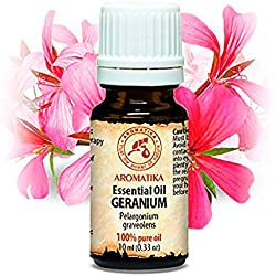 Geranium Öl - 100% Naturreines Ätherisches 10ml - Reine & Natürliche Geraniumöl - Pelargonium Graveolens - Ägypten - Geranienöl Besten für Beauty - Wellness - Schönheit - Aromatherapie - Entspannung - Spa - Aroma Diffuser- Duftlampe - Aroma - Raumbeduftung - Geranien Öl Von Aromatika