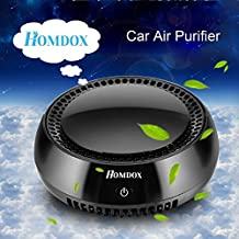 Homdox Purificador de Aire, Ozonizador Portátil, Ionizador Coche Especial Diseñado para Coche escritorio y habitación del bebé,de Color Negro