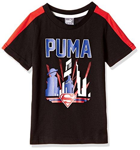 Puma Fun Superman Shirt Jungen 98 schwarz - schwarz / rot
