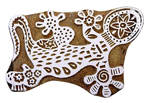 Eidechse Indische Für Ton Holzblock Kunst Keramik Briefmarken Handcarved Textil-Stempel -