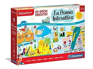 Clementoni - Sapientino-La bolígrafo Interactivo 50 Juegos educativos, Multicolor, 16212