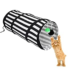 Imported Pop Up Cat Dog Rabbit Puppy Play Tunnel Exercise Activity Toy Black ...-14017913MG