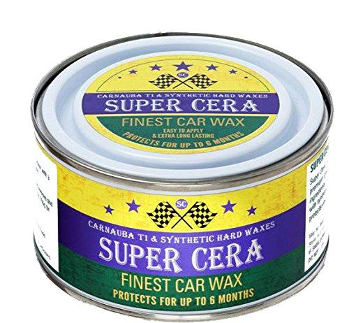 Super Cera brasilianisches Carnauba Hybrid Premium Auto Wachs 150g brasilianisches Carnauba T1und synthetisches Hartwachs für feinstes Autowachs und Politur